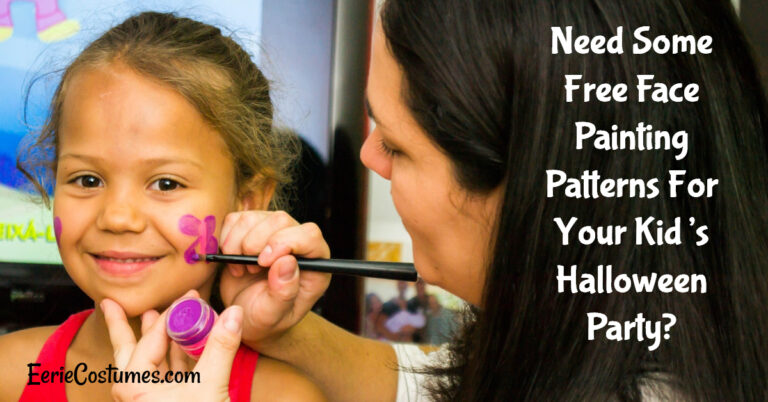 Need Some Free Face Painting Patterns For Your Kid's Halloween Party?