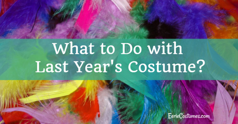 What to Do with Last Year's Costume?